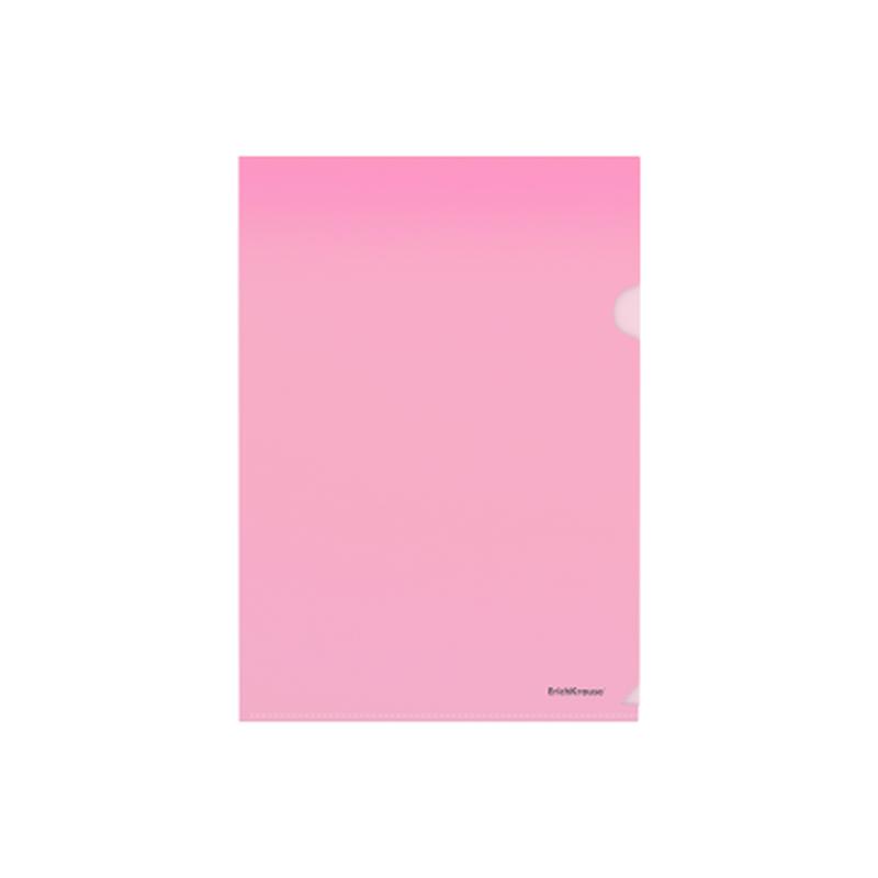Папка-уголок пластиковая  ErichKrause® Glossy Classic, A4, красный 50152