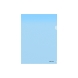 Папка-уголок пластиковая  ErichKrause® Glossy Classic, A4, синий 50153