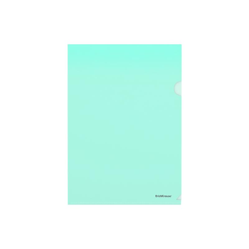 Папка-уголок пластиковая  ErichKrause® Glossy Classic, A4, зеленый 50154