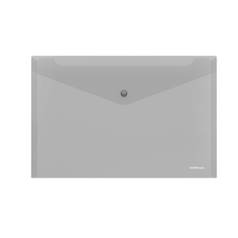 Папка-конверт на кнопке пластиковая  ErichKrause® Glossy Classic, A4, прозрачный 50259