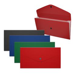 Папка-конверт на кнопке пластиковая с отделениями ErichKrause® Matt Classic, непрозрачная, Travel, ассорти 50299