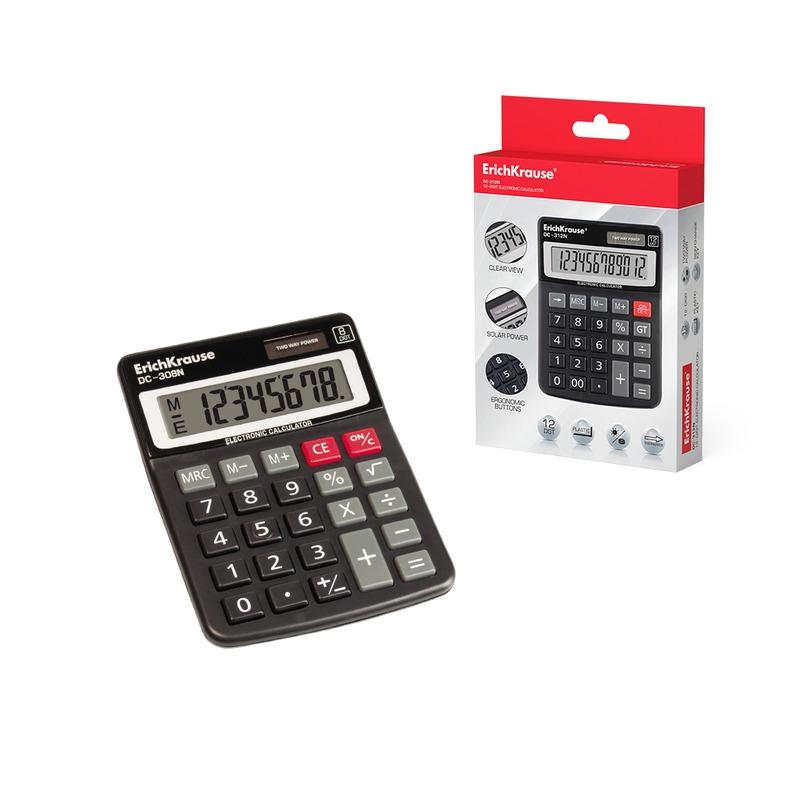 Калькулятор ErichKrause® 8-разрядов DC-308N. 50308