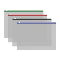 ZIP-пакет пластиковый ErichKrause® Fizzy Clear c цветной молнией, А4 335*242*0,12, ассорти 50326