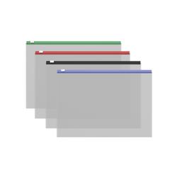 ZIP-пакет пластиковый ErichKrause® Fizzy Clear c цветной молнией, B5 289*214*0,12, ассорти 50327