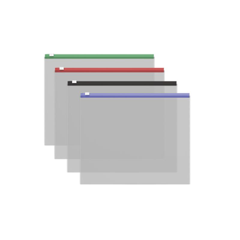 ZIP-пакет пластиковый ErichKrause® Fizzy Clear с цветной молнией, Travel 255*130*0,12, ассорти 50328
