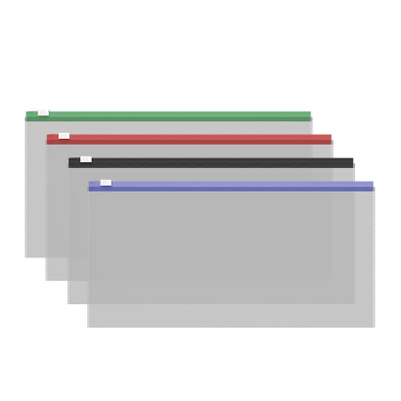 ZIP-пакет пластиковый ErichKrause® Fizzy Clear c цветной молнией, C6, ассорти 50329