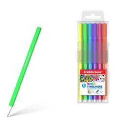 Линеры ErichKrause® Neon 6 цветов 50336
