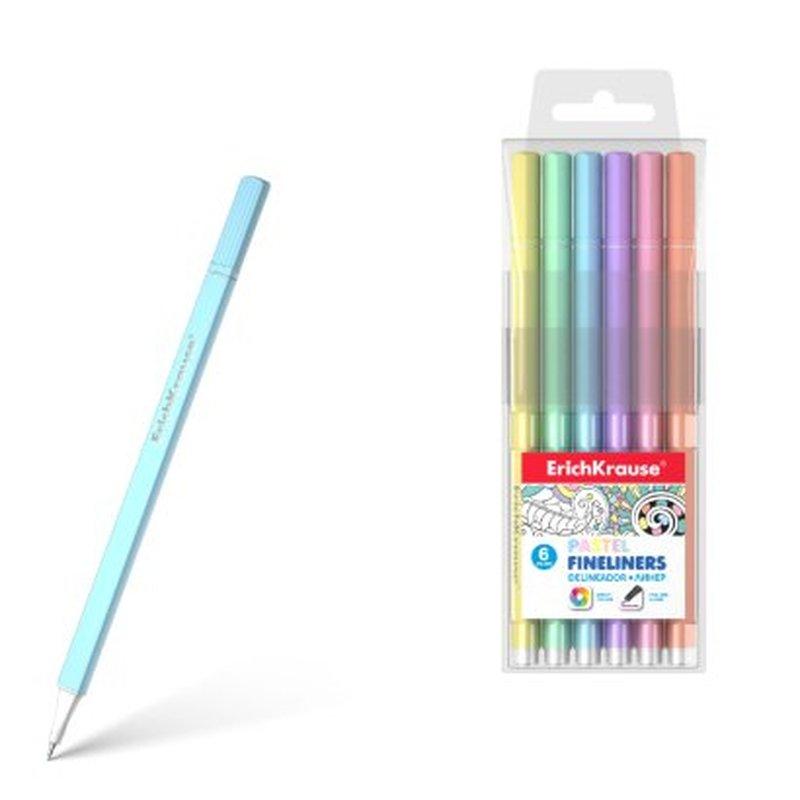 Линеры ErichKrause® Pastel 6 цветов 50337
