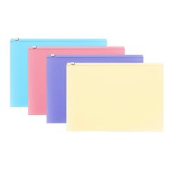 ZIP-пакет пластиковый ErichKrause® Fizzy Pastel, А4 335*242*0,18,  ассорти 50338