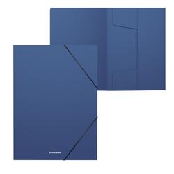 Папка на резинках пластиковая  ErichKrause® Matt Classic, 30мм, A4, синий 50372