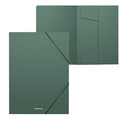 Папка на резинках пластиковая ErichKrause® Matt Classic, 30мм, A4, зеленый 50373