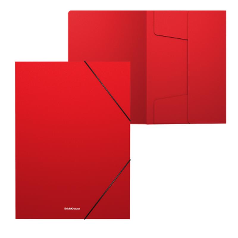 Папка на резинках пластиковая  ErichKrause® Matt Classic, 30мм, A4, красный 50374