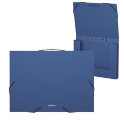Папка на резинках пластиковая  ErichKrause® Matt Classic, с ручкой, 30мм, A4, синий 50377