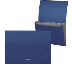 Папка-картотека пластиковая ErichKrause® Matt Classic, с 12 отделениями, A4, синий 50417