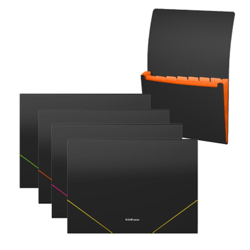 Папка-картотека пластиковая  ErichKrause® Matt Accent, с 6 отделениями, A4, ассорти 50424
