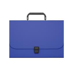 Портфель пластиковый ErichKrause® Matt Classic, A4, синий 50435