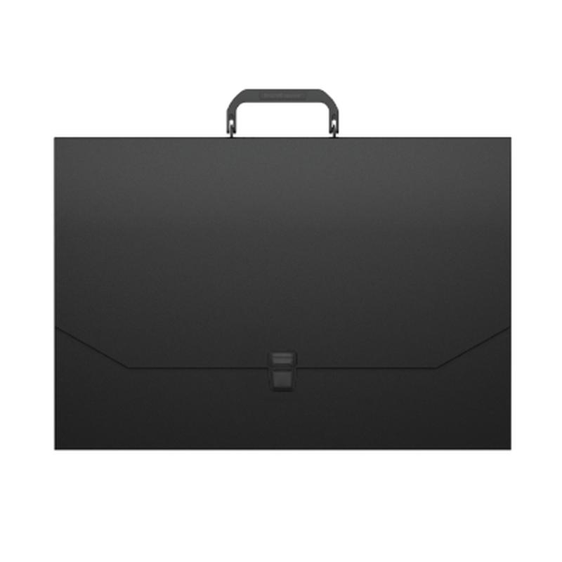 Портфель пластиковый ErichKrause® Matt Classic, A3, черный 50436