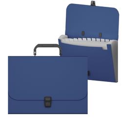 Портфель пластиковый ErichKrause® Matt Classic, с 12 отделениями, A4, синий 50438
