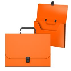 Портфель пластиковый ErichKrause® Matt Neon, A4, оранжевый 50452