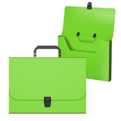 Портфель пластиковый ErichKrause® Matt Neon, A4, зеленый 50454