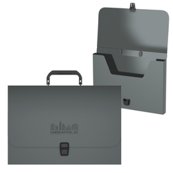 Портфель пластиковый ErichKrause® MEGAPOLIS, FC, серый 50455
