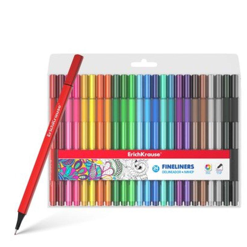 Линеры ErichKrause® 24 цвета 50468