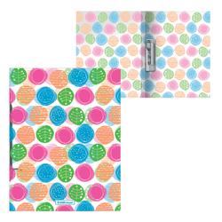 Папка с боковым зажимом пластиковая ErichKrause® Buttons, A4 50487