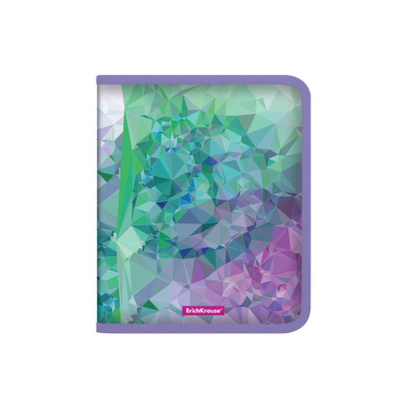 Папка для тетрадей на молнии пластиковая  ErichKrause® Violet Dynamique, A5+ 50488
