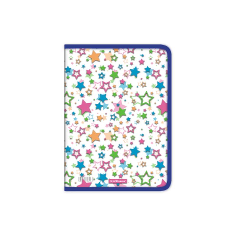 Папка для тетрадей на молнии пластиковая ErichKrause® Neon Stars, A4 50490
