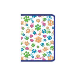 Папка для тетрадей на молнии пластиковая  ErichKrause® Neon Paws, A4  (в пакете по 4 шт.) 50492
