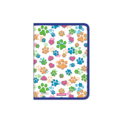 Папка для тетрадей на молнии пластиковая  ErichKrause® Neon Paws, A4 50492