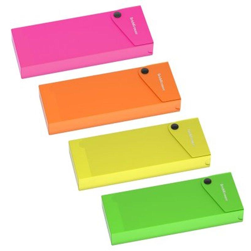 Пенал пластиковый ErichKrause® Matt Neon, ассорти 50495