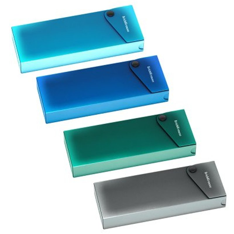 Пенал пластиковый ErichKrause® Matt Ice Metallic, ассорти 50499
