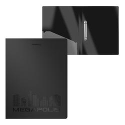 Папка на 2 кольцах пластиковая  ErichKrause® MEGAPOLIS, 24 мм, А4, черный 50515