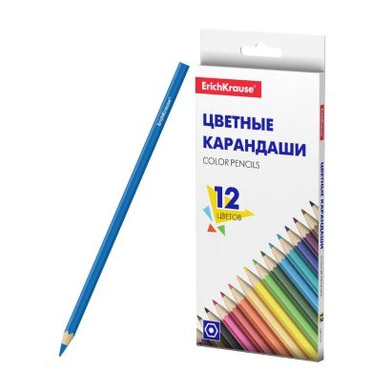 Цветные карандаши шестигранные ErichKrause®  Basic 12 цветов 50529
