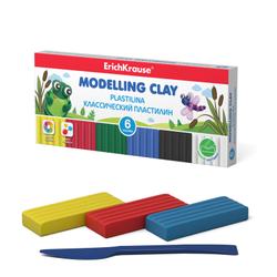 Классический пластилин ErichKrause® 6 цветов со стеком, 108г 50545