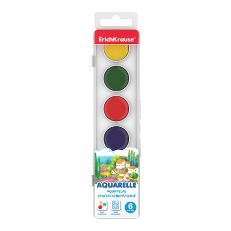 Краски акварельные ErichKrause® 6 цветов 50580