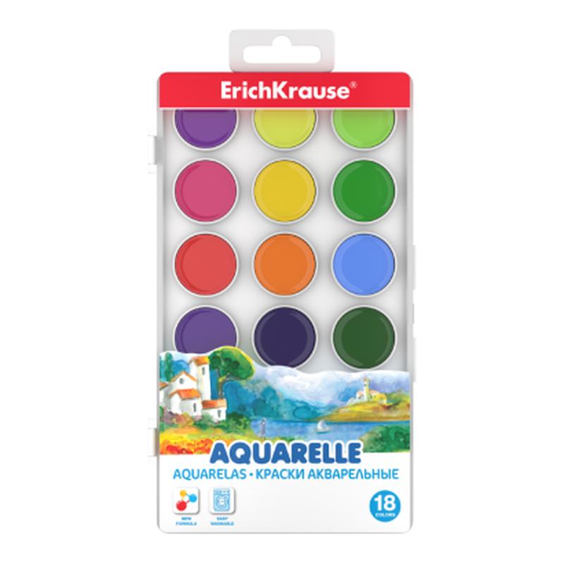Краски акварельные ErichKrause® 18 цветов 50582