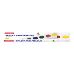 Краски акварельные ErichKrause® Basic медовые 6 цветов (в картон.пенале) 50585