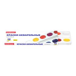 Краски акварельные ErichKrause® Basic медовые 12 цветов (в картон. пенале) 50586