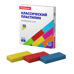 Классический пластилин ErichKrause® Basic 10 цветов, 160г (коробка) 50640