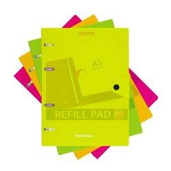 Тетрадь общая с пластиковой обложкой на кольцах ErichKrause® Neon, ассорти, А5, 80 листов, клетка, на кнопке 50653