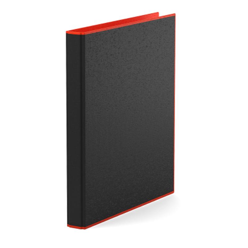 Папка–регистратор на 4 кольцах ErichKrause®, Accent, А4, 35 мм, красный 51082