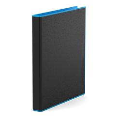 Папка–регистратор на 4 кольцах ErichKrause®, Accent, А4, 35 мм, голубой 51083
