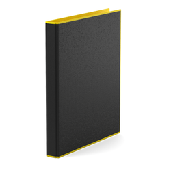 Папка–регистратор на 4 кольцах ErichKrause®, Accent, А4, 35 мм, желтый 51085