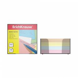 Бумага настольная ErichKrause®, 90x90x50 мм, 4 цвета, в пластиковом контейнере 5141