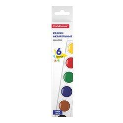 Краски акварельные ErichKrause® Basic 6 цветов 51440