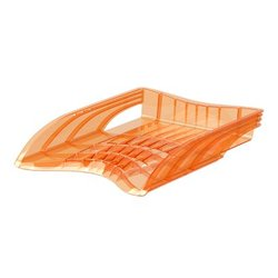 Лоток пластиковый для бумаг ErichKrause® S-Wing, Neon, оранжевый 51508