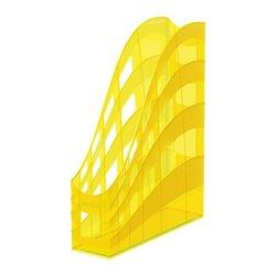 Подставка пластиковая для бумаг вертикальная ErichKrause® S-Wing, Neon, желтый 51511