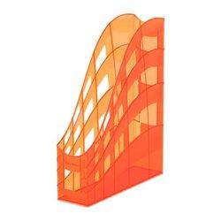 Подставка пластиковая для бумаг вертикальная ErichKrause® S-Wing, Neon, оранжевый 51512